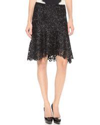 Nina Ricci Lace Skirt Black - Lyst