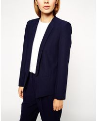 Asos Jacket In Crepe With Skinny Lapel - Lyst