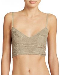Free People Stretch Lace Bustier - Lyst