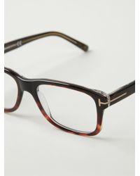 Tom Ford Rectangular Frame Glasses - Lyst