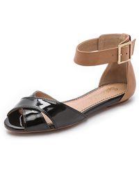 Splendid Atlanta Ankle Strap Sandals - Black - Lyst