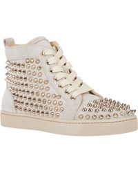 Christian Louboutin Spiked Louis Woman Flat Sneakers - Lyst