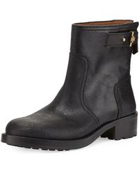 Tory Burch Selena Suede Ankle Boot Black - Lyst