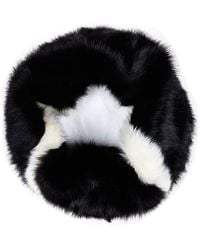 River Island Black and White Faux Fur Snood - Lyst