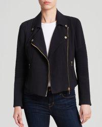 Vince Camuto Goldtone Zip Moto Jacket - Lyst