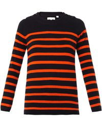 Chinti And Parker Guernsey Striped Cashmere Sweater - Lyst
