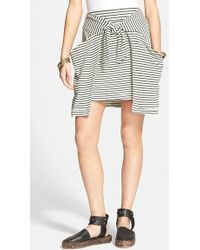Free People 'All Tied Up' Layered Skirt black - Lyst