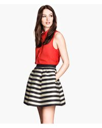 H&M Cotton Skirt - Lyst