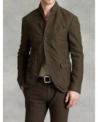 John Varvatos Notch Lapel Cut Away Jacket - Lyst