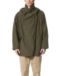 Ones Stroke - Ripstop Long Linen Coat - Lyst