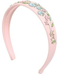 net detail embellished headband - Pink & Purple Red Valentino