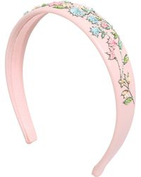 net detail embellished headband - Pink & Purple Red Valentino VYpwv7I34