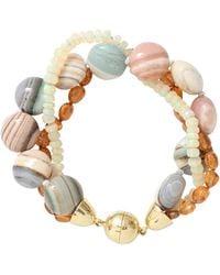 Pamela Huizenga | Saturn Chalcedony And Opal Bracelet | Lyst