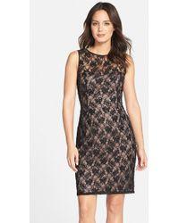 JS Boutique | Beaded Lace Sheath Dress | Lyst
