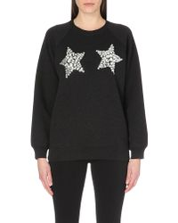 Marc Jacobs Embellished Jersey Sweatshirt - For Women black - Lyst