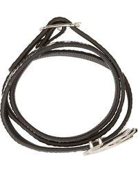 McQ by Alexander McQueen Black Snakeskin Swallow Wrap Bracelet - Lyst