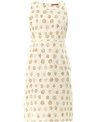 Max Mara Studio Beige Patroni Dress - Lyst