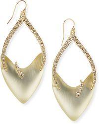 Alexis Bittar Vert Deau Tiger-stripe Open-drop Lucite Earrings - Lyst