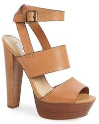 Steve Madden 'Dezzzy' Leather Ankle Strap Sandal - Lyst