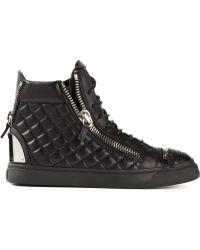 Giuseppe Zanotti Quilted Hi-top Sneakers - Lyst