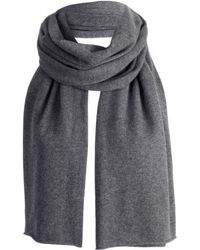 Gladys & Pixie Gladys and Pixie Charcoal Large Scarf - Lyst