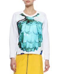 Risto - Doppio Printed Side-zip Sweater - Lyst