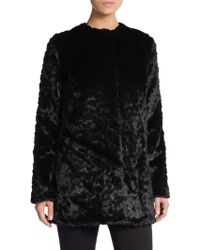 Sam Edelman Faux Fur Coat - Lyst