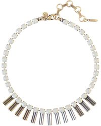 Loren Hope | Arista Petite Necklace, Grey Opal | Lyst