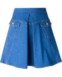 Love Moschino A-line Denim Skirt - Lyst