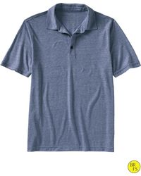 Banana Republic Factory Tri Blend Solid Polo Underwater Blue - Lyst