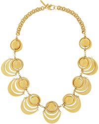 Lele Sadoughi - Orbit Gold-Plated Necklace - Lyst