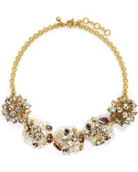 J.Crew | Jeweled Geometric Necklace | Lyst