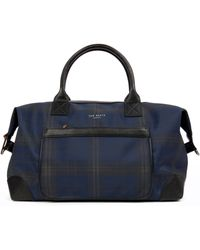 Ted Baker Checked Holdall Bag - Lyst