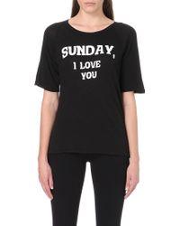 Wildfox Dear Sunday Cotton Jersey Tshirt Black - Lyst