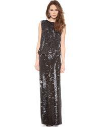 Rachel Zoe Colette Sequin Gown - Gold/Silver - Lyst