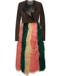 Marni Sheep Fur Coat - Lyst