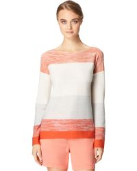 Calvin Klein Jeans Wool-Blend Block Stripe Sweater - Lyst