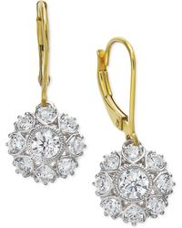 Marchesa Diamond Two-Tone Snowflake Drop Earrings In 18K Gold (1-1/6 Ct. T.W.) - Lyst