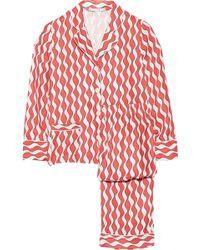 Raphaëlla Riboud - George and Frantz Printed Silk-Satin Pajama Set - Lyst