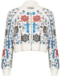 Alice + Olivia Embroidered Beaded Bomber Jacket - Lyst