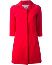 Herno Three Quarter Sleeve Coat - Lyst