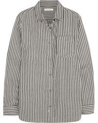 Etoile Isabel Marant Waida Oversized Striped Cotton Shirt - Lyst