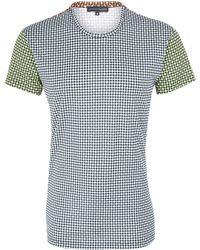 Jonathan Saunders Multicolour Contrast Checkerboard Cotton Tshirt - Lyst
