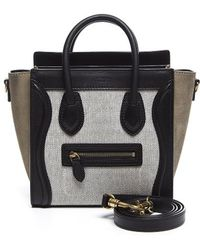 Celine Pre-Owned Tricolor Nano Luggage Bag - Lyst
