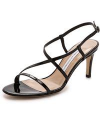 Diane von Furstenberg Keenan Strappy Sandals - Black - Lyst