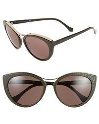 Balenciaga 'Ba0033' 57Mm Cat Eye Sunglasses - Olive Green/ Rose Gold green - Lyst