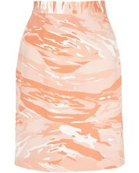 Mother Of Pearl Vida Heavy Silk Knee Length Skirt - Lyst