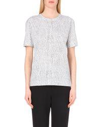 Helmut Lang Lightning-Print Cotton-Jersey T-Shirt - For Women - Lyst