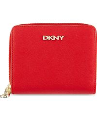 DKNY Saffiano Leather Purse Red - Lyst