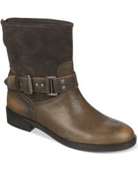 Franco Sarto Pierce Moto Booties - Lyst